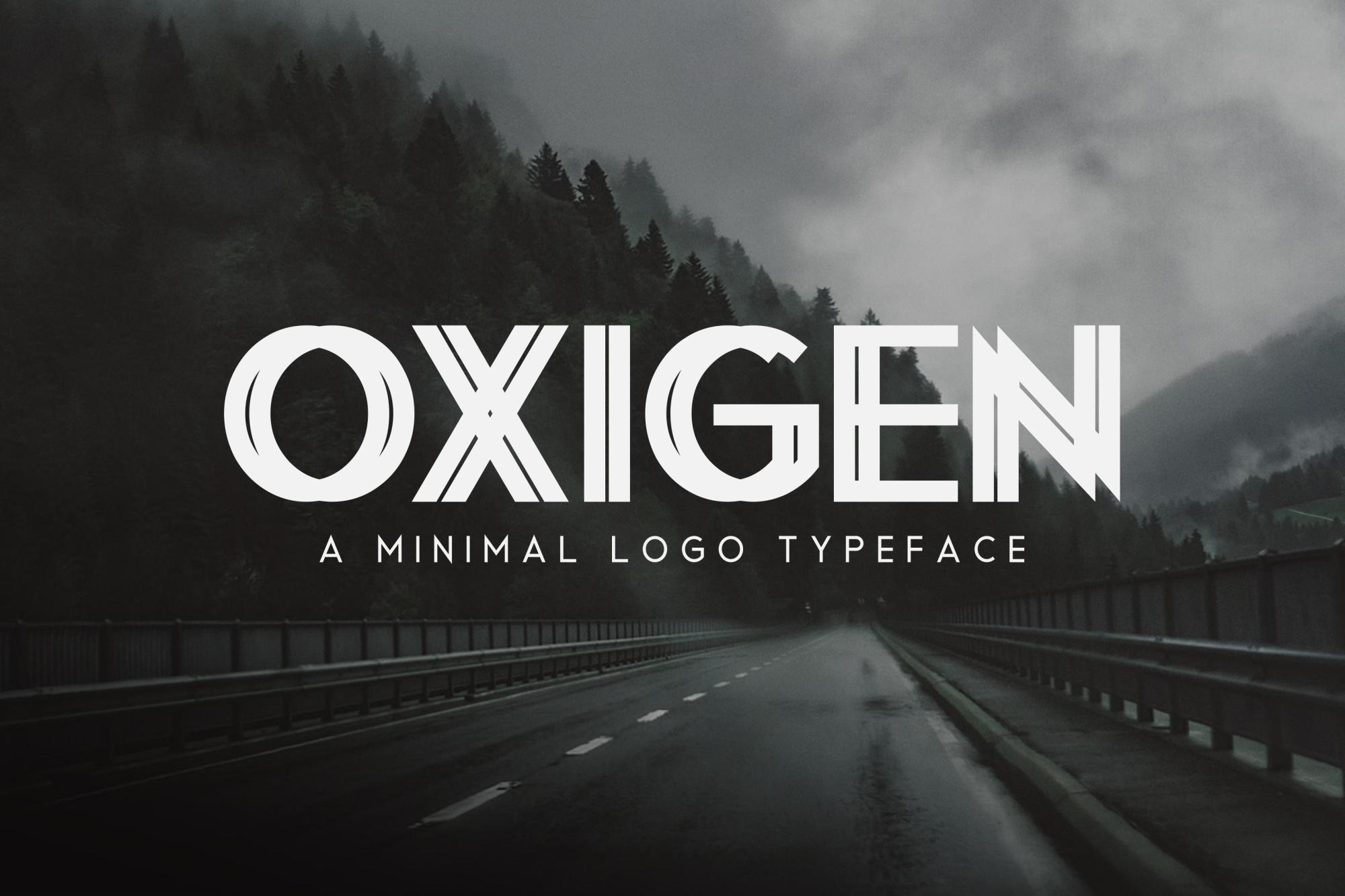 Oxigen | A Minimal Logo Typeface example image 1