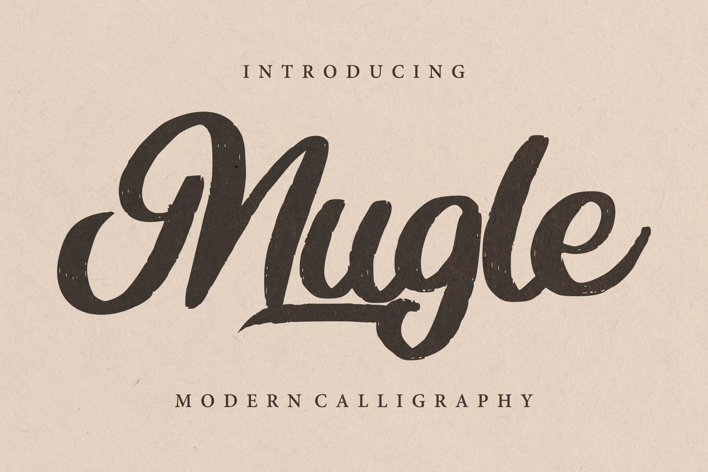Mugle | Modern Calligraphy Script Font example image 1