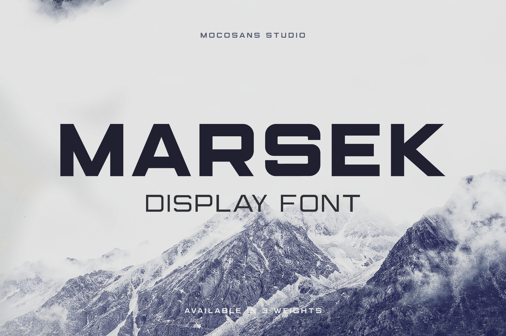 (NEW) Marsek - A Solid Display Font example image 1
