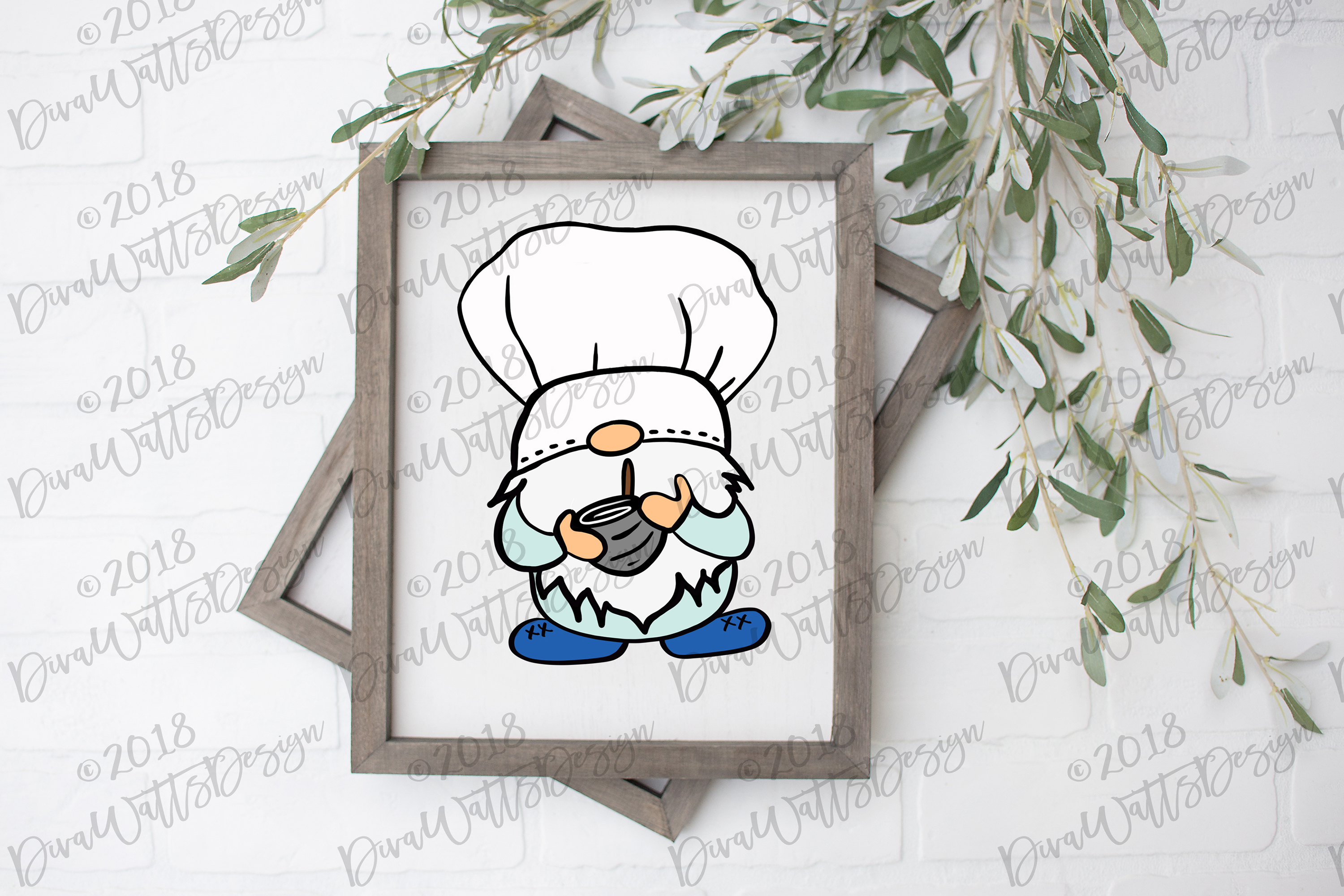 Chef Gnome Cutting File Farmhouse Rustic Style Kitchen example image 2
