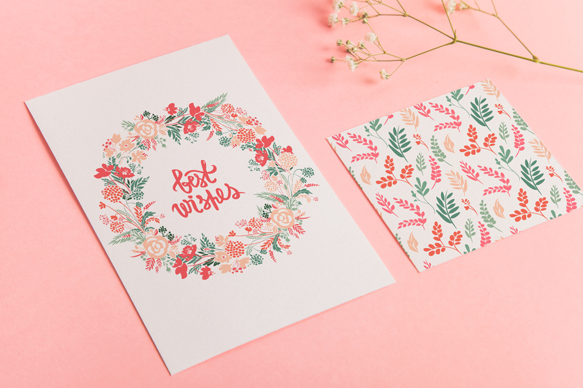 Vector Floral, patterns & hearts example image 2
