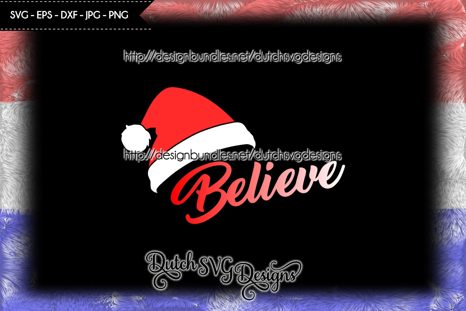 Cut file Believe with Santa hat, christmas svg, believe svg example image 3