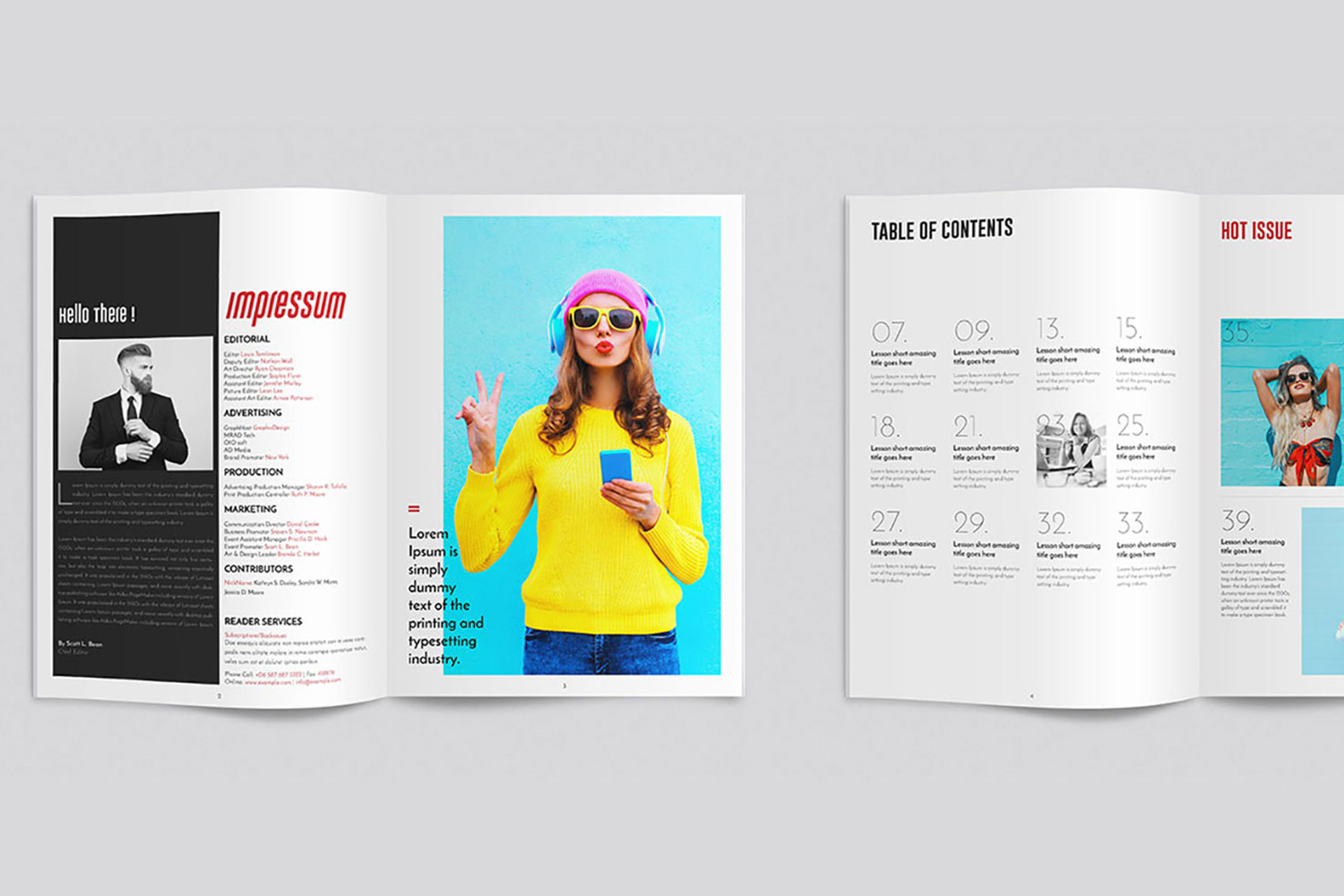 InDesign Multiple Magazine Layout example image 3