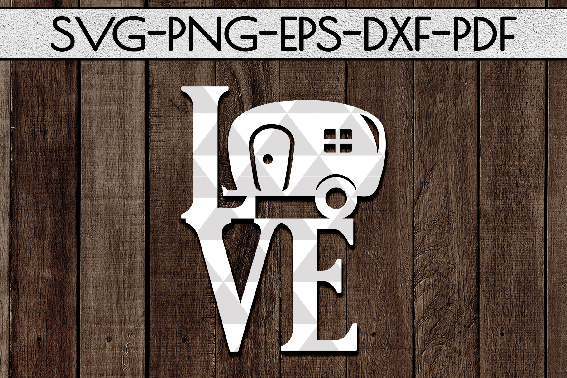Love Camping Sign Papercut Template, Summer Camper SVG, PDF example image 1