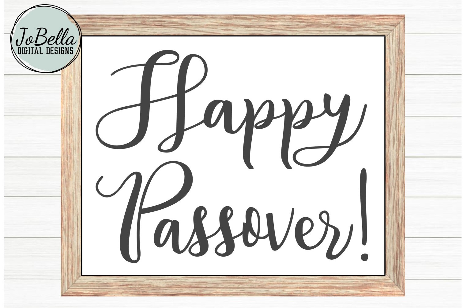 Happy Passover SVG and Printable Jewish Holiday Design example image 1
