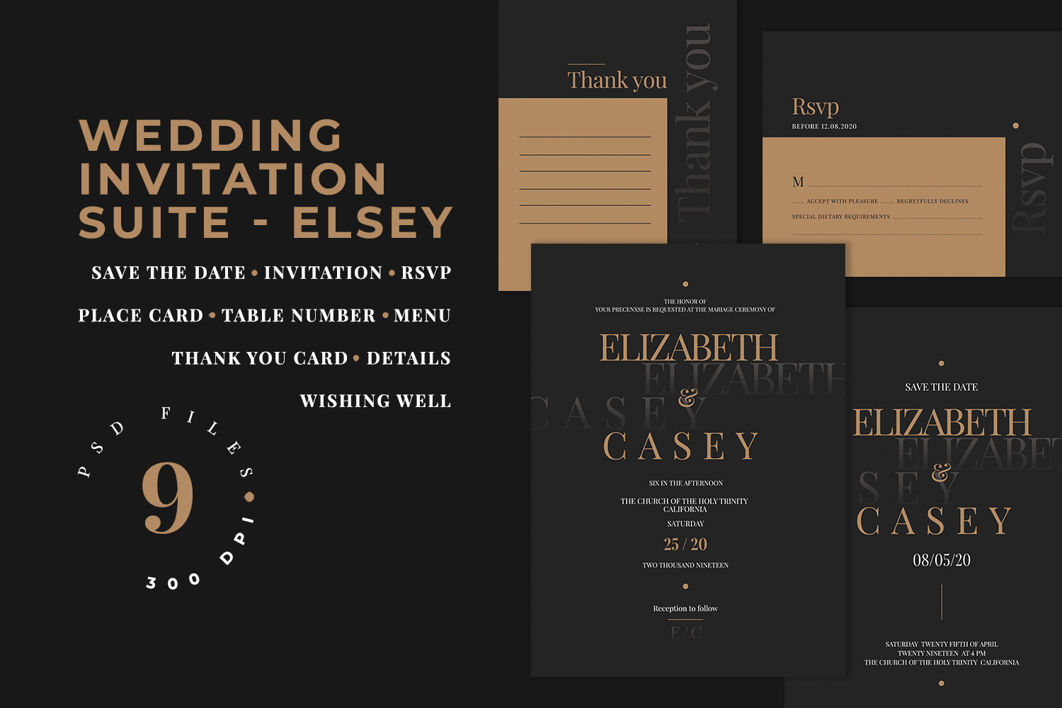 Wedding Invitation Suite - ELSEY example image 1
