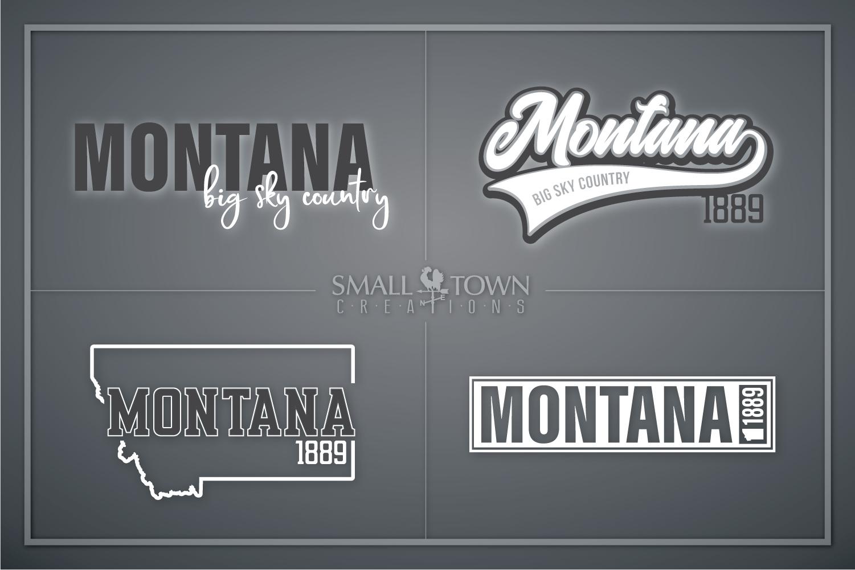 Montana, Big Sky Country - slogan, Logo, PRINT, CUT & DESIGN example image 1