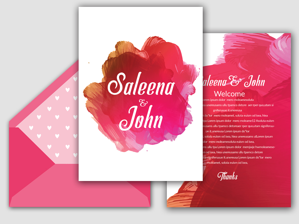 Double Sided Save The Date Card example image 2