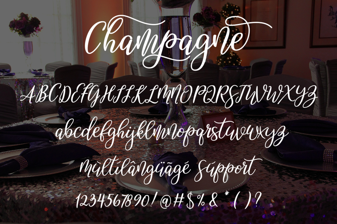 Champagne script example image 7