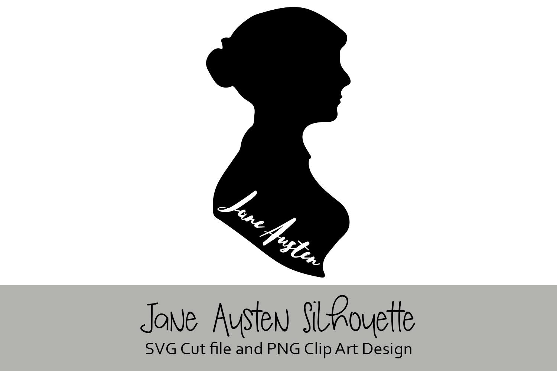 Jane Austen Silhouette Digital Design example image 2