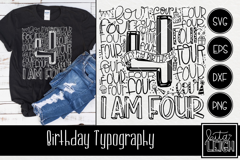 Birthday Typography Bundle example image 5