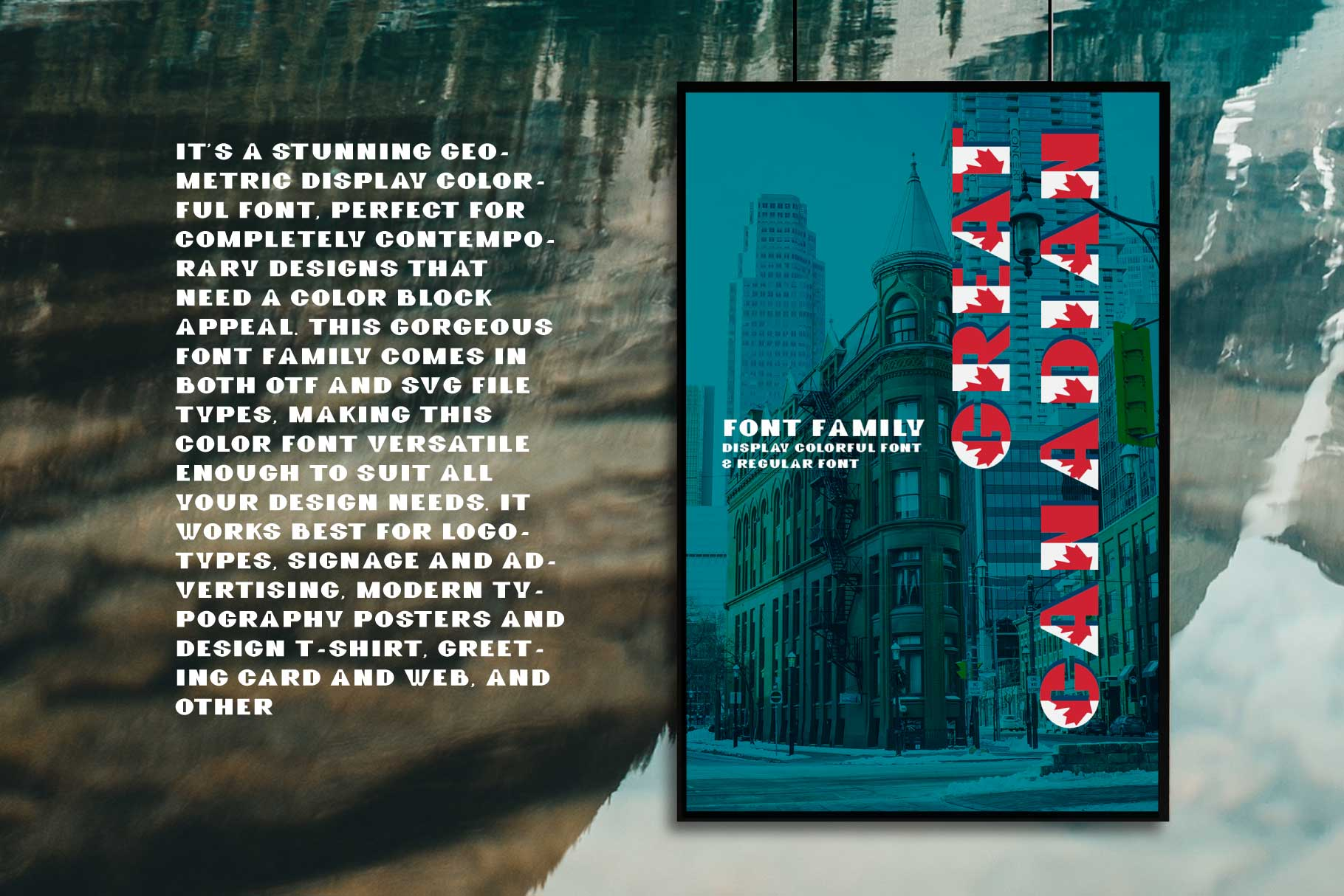 GreatCanadian-font family example image 7