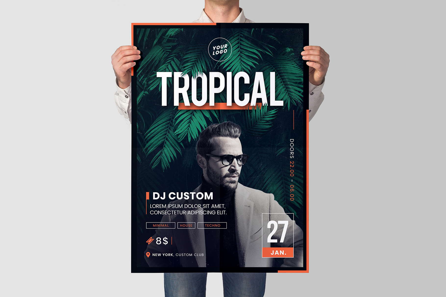 Tropical Party Flyer Template example image 2