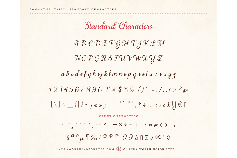 Samantha Script Italic example image 5