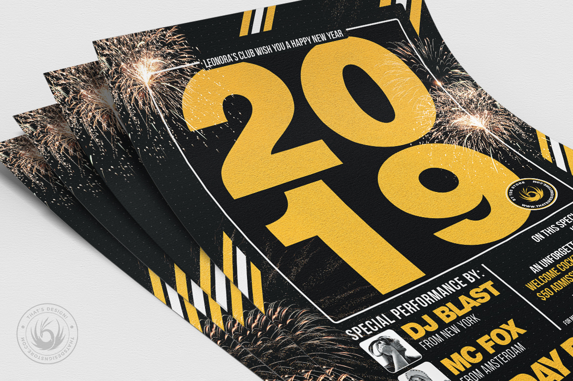 New Year Flyer Template V6 example image 5