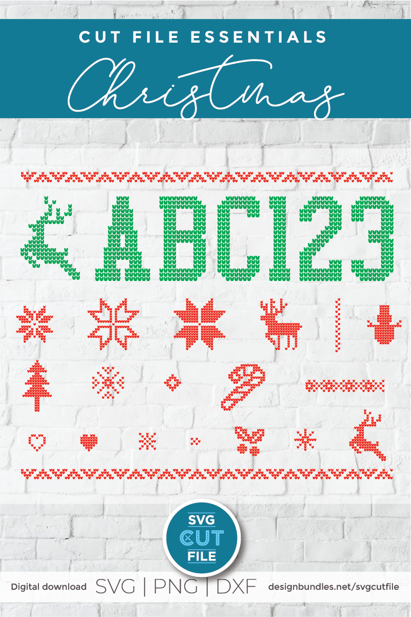 Ugly Christmas Sweater font, Tacky Christmas Jumper font OTF example image 3