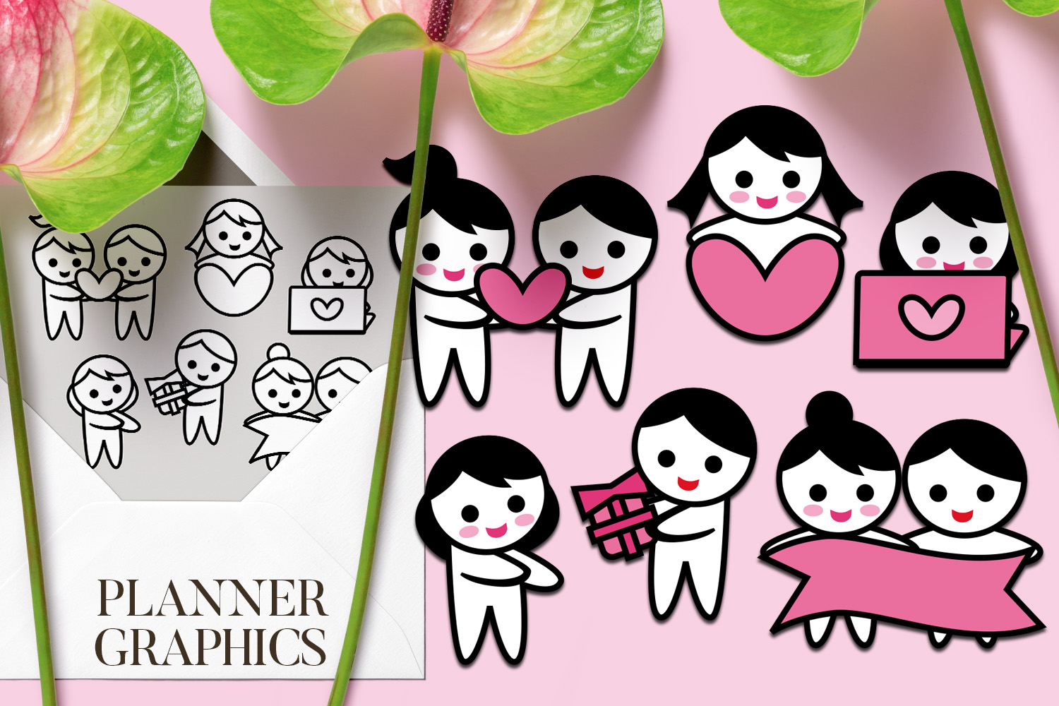 Holidays Bundle - Planner Graphic Illustrations example image 24