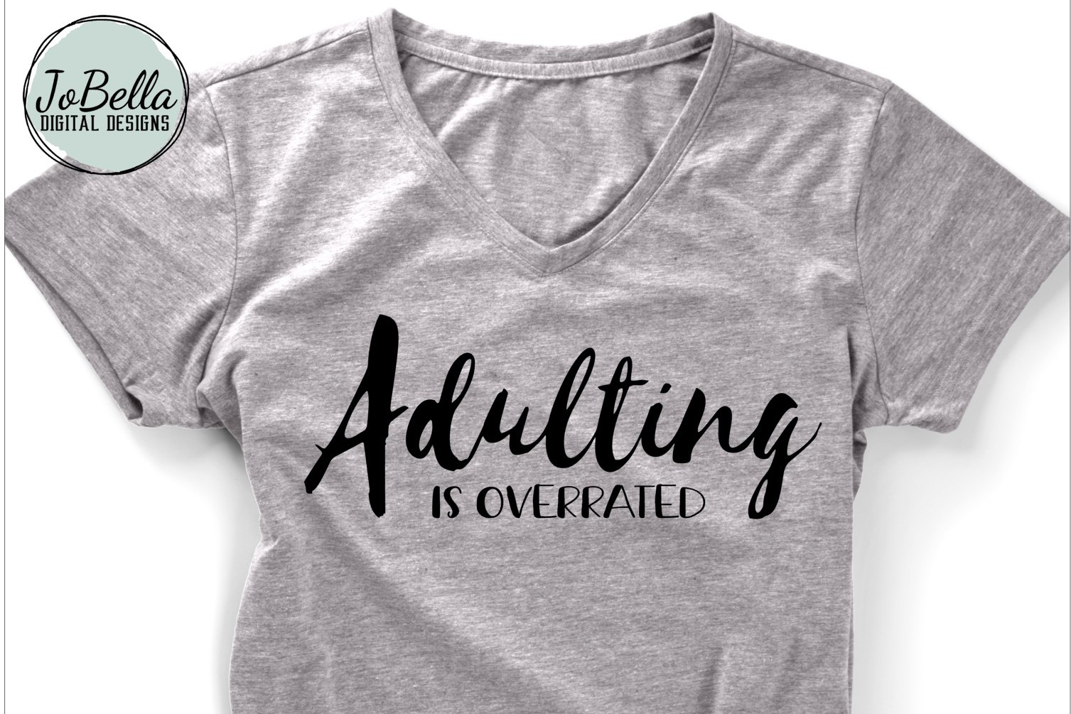 Sarcastic SVG and Printable - Adulting Is Overrated example image 1