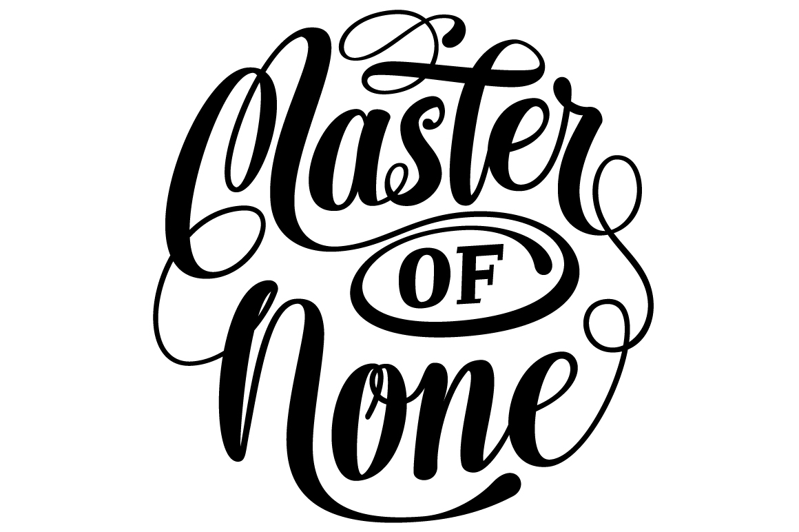 Master of None Lettering SVG example image 3