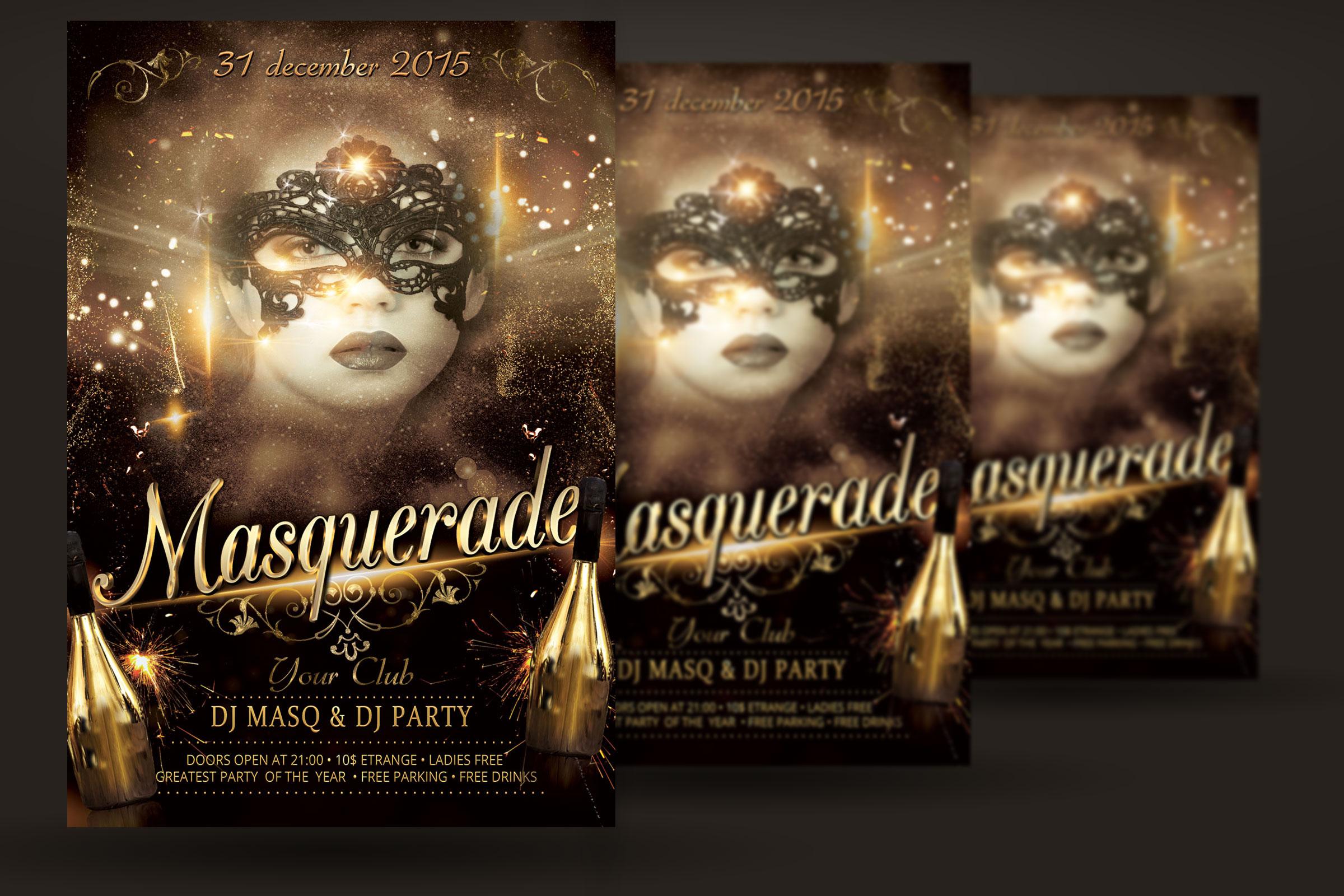 Masquerade Flyer example image 2