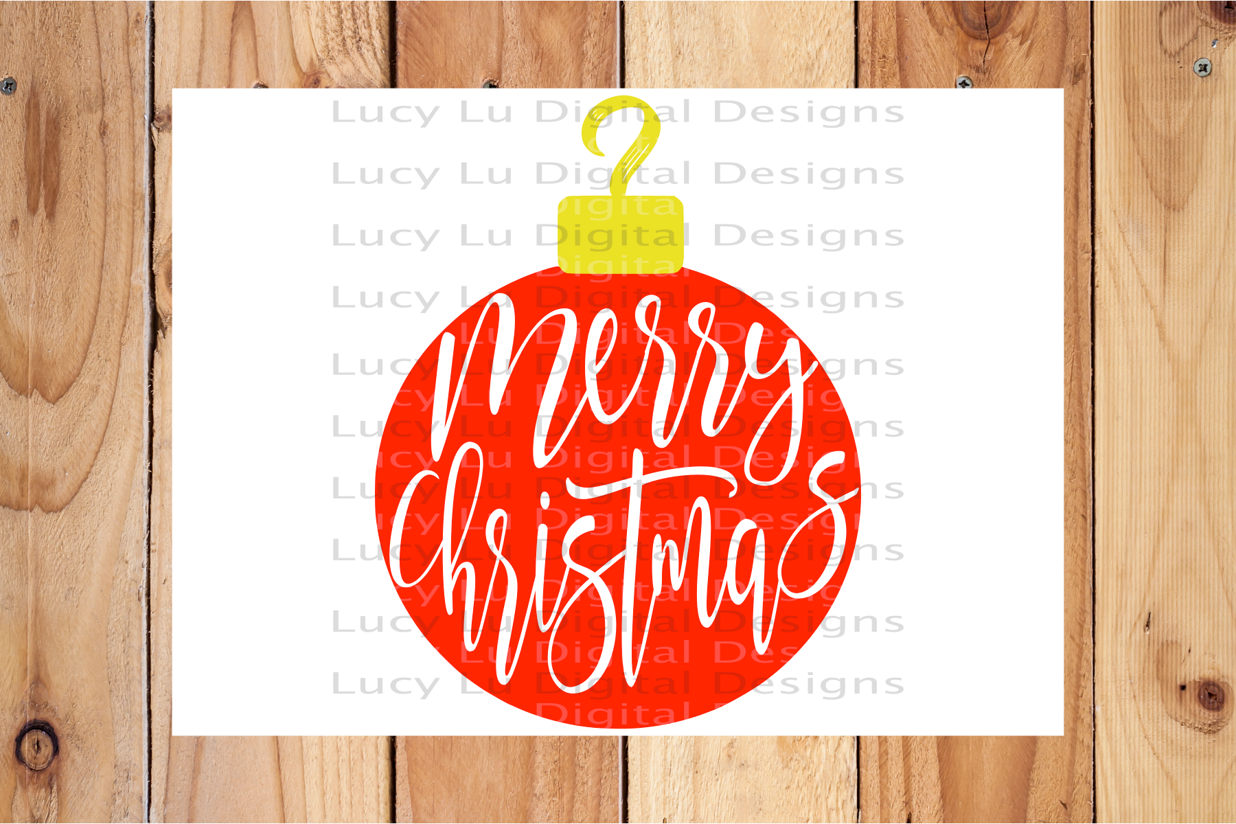 Merry Christmas Ornament example image 3