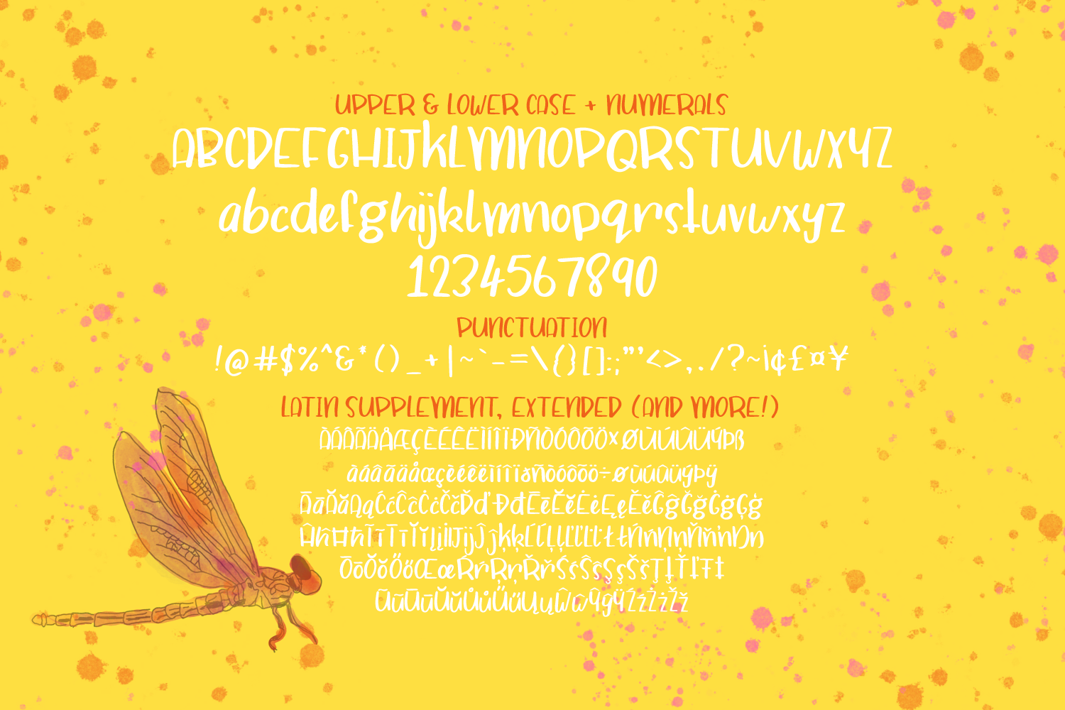 Dragonfly Soup - A quirky hand drawn font example image 2