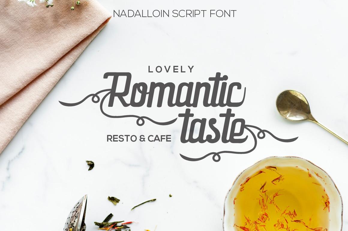 Nadalloin font example image 4