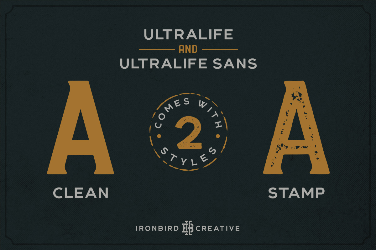 Ultralife Typeface example image 6