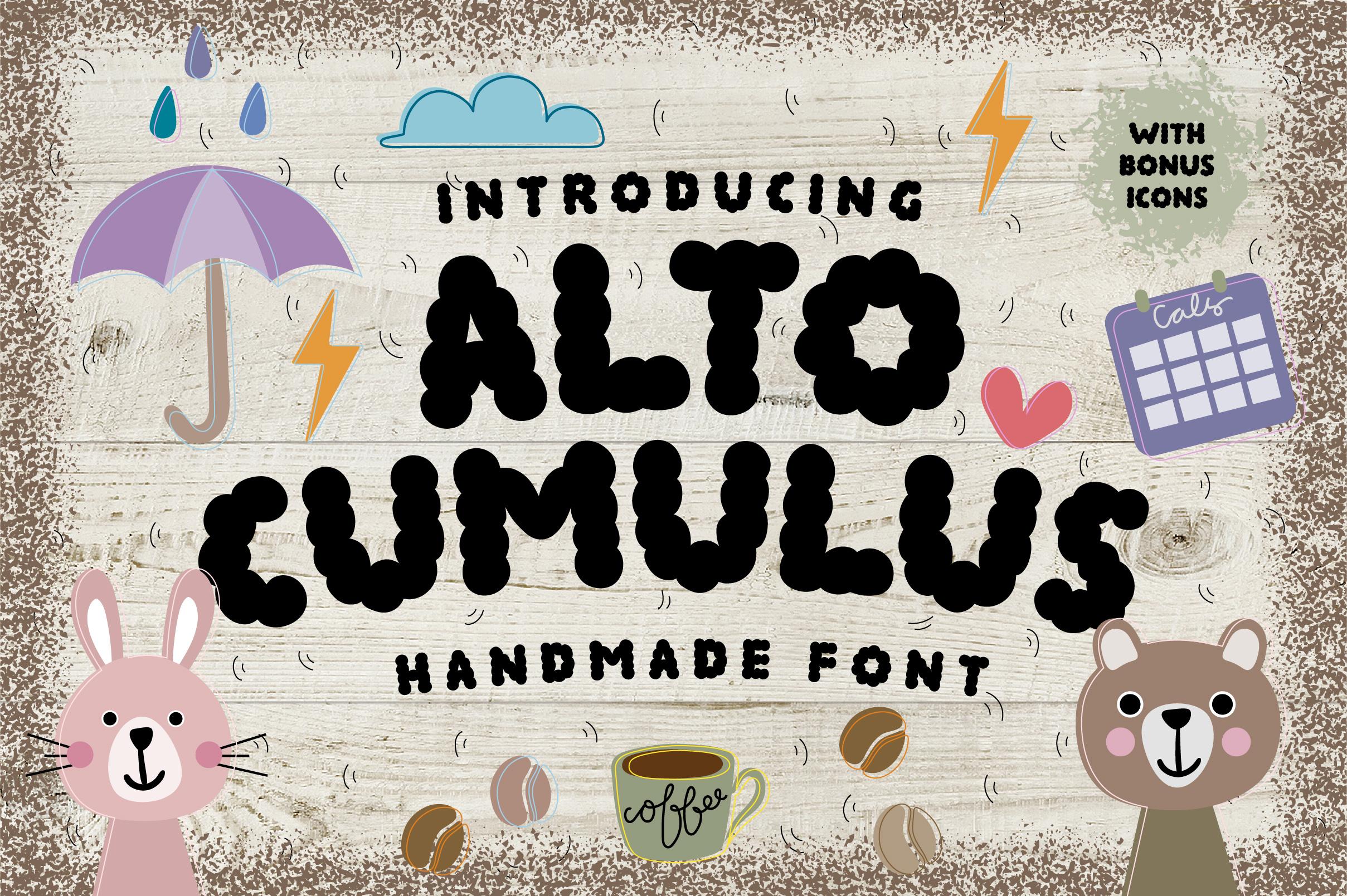 ALTOCUMULUS Font example image 1
