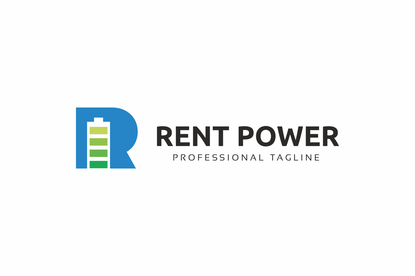 Rent Power R Letter Logo example image 3