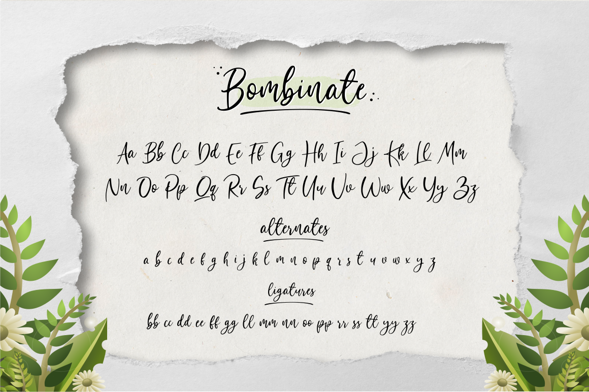 Bombinate // Handlettering Font example image 11