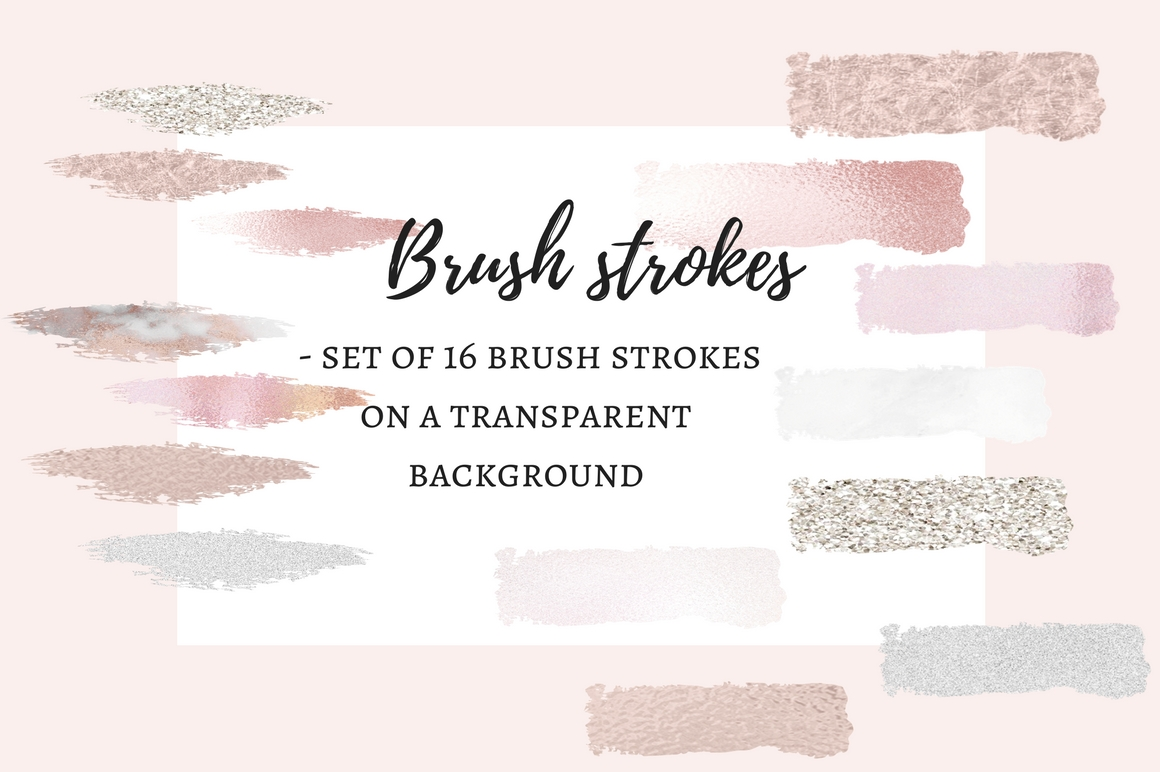 16 Brush strokes clipart example image 1