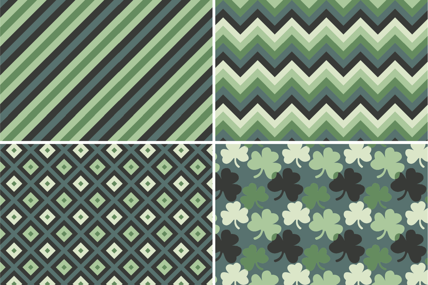 8 Seamless St. Patrick's Day Patterns Set 3 example image 7