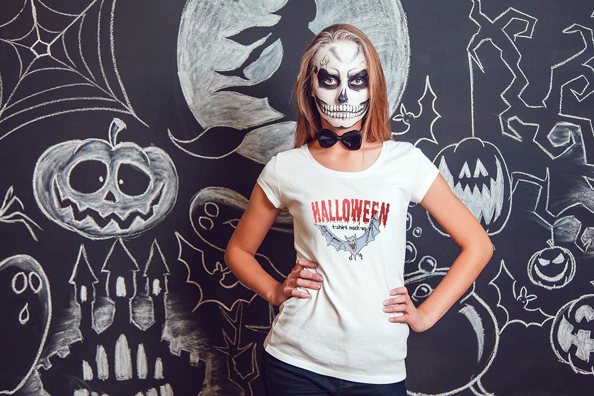 Halloween T-Shirt Mock-Up example image 3