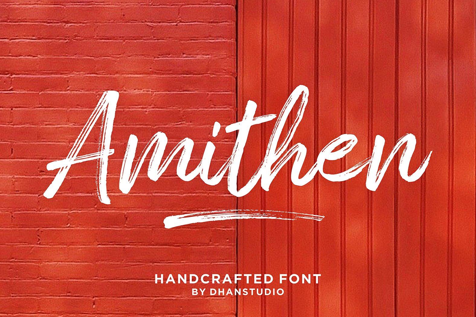 Amithen Brush Font example image 1