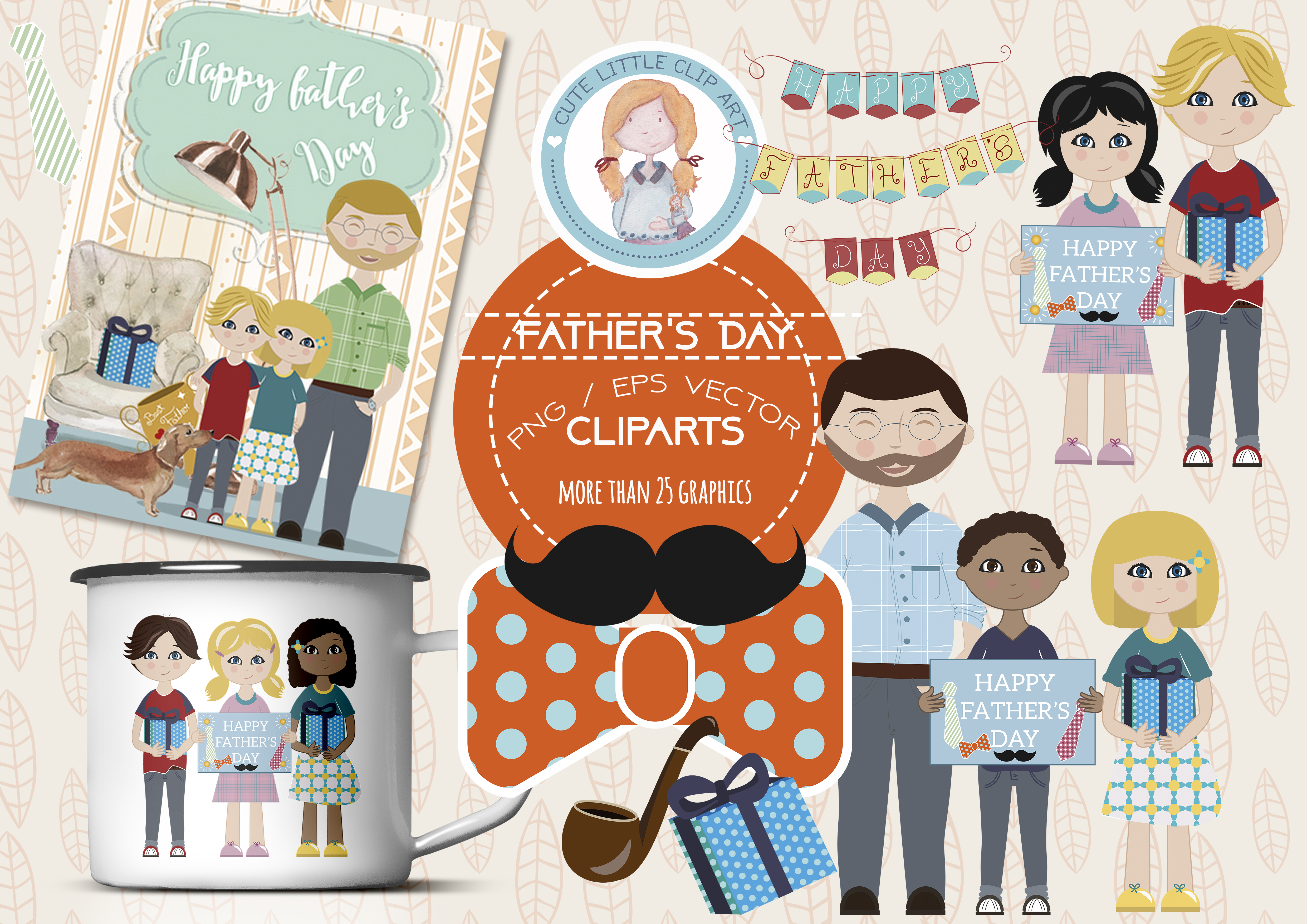 Father Day Clipart example image 1
