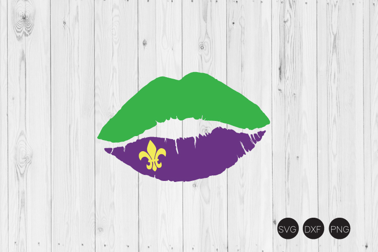 Mardi Gras Lip SVG example image 1