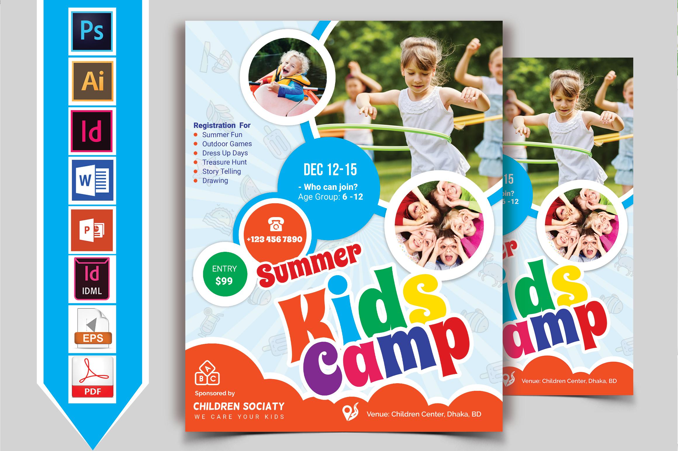 Kids Summer Camp Flyer Vol-04 example image 2