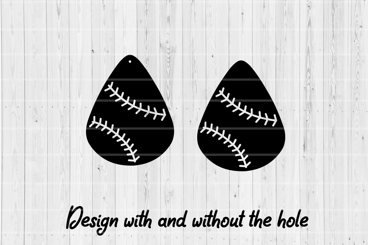 Baseball Earrings | SVG Cut Files | Stacked Earrings | example image 2