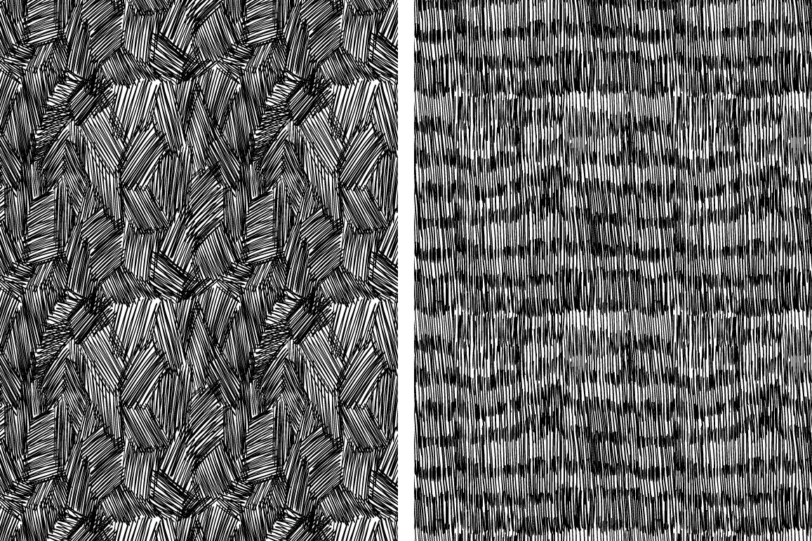 Set of 8 ink strokes effect patterns example image 4
