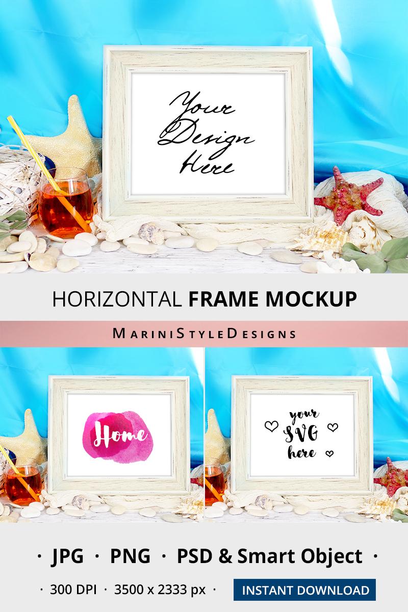 8x10 Summer beach Frame mockup, horizontal frame mockup, 965 example image 2