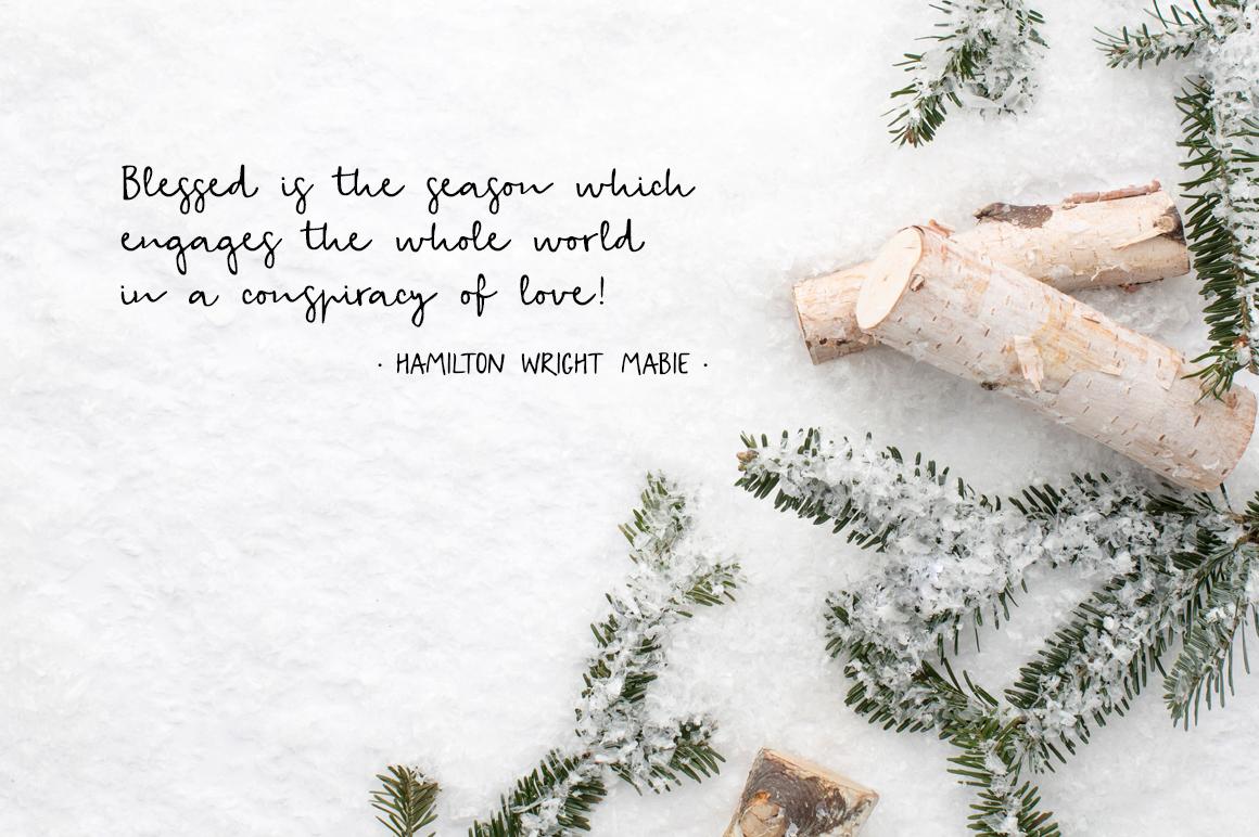 Snowy Christmas script font & logos example image 10