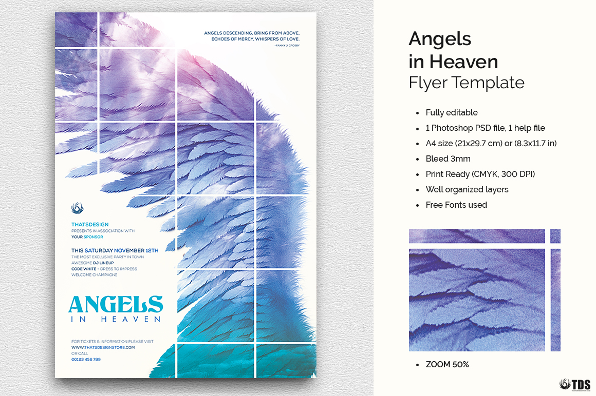 Angels in Heaven Flyer Template example image 1