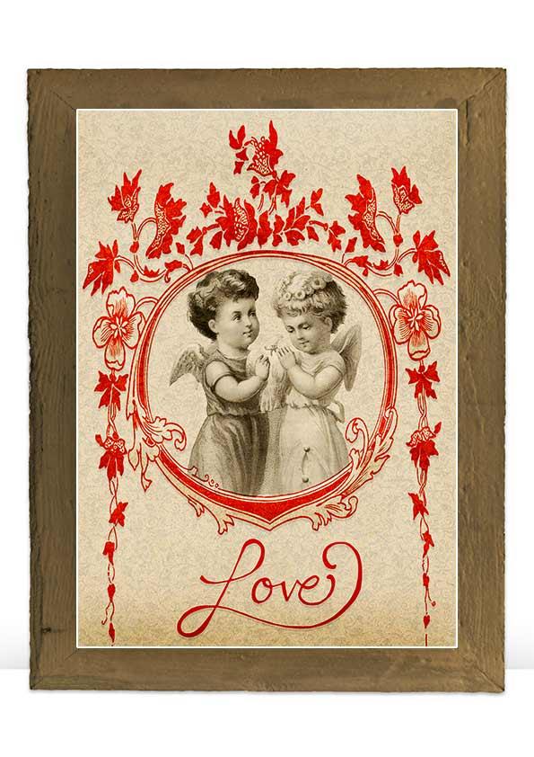 Digital Valentine vintage art print decoration example image 4