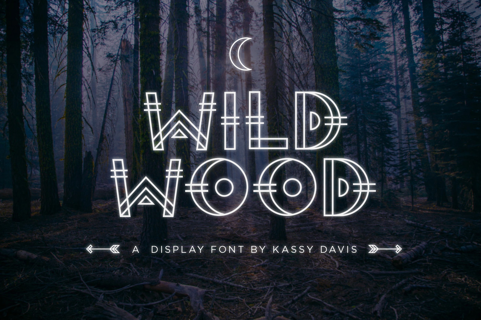 Wild Wood Font & Extras example image 1