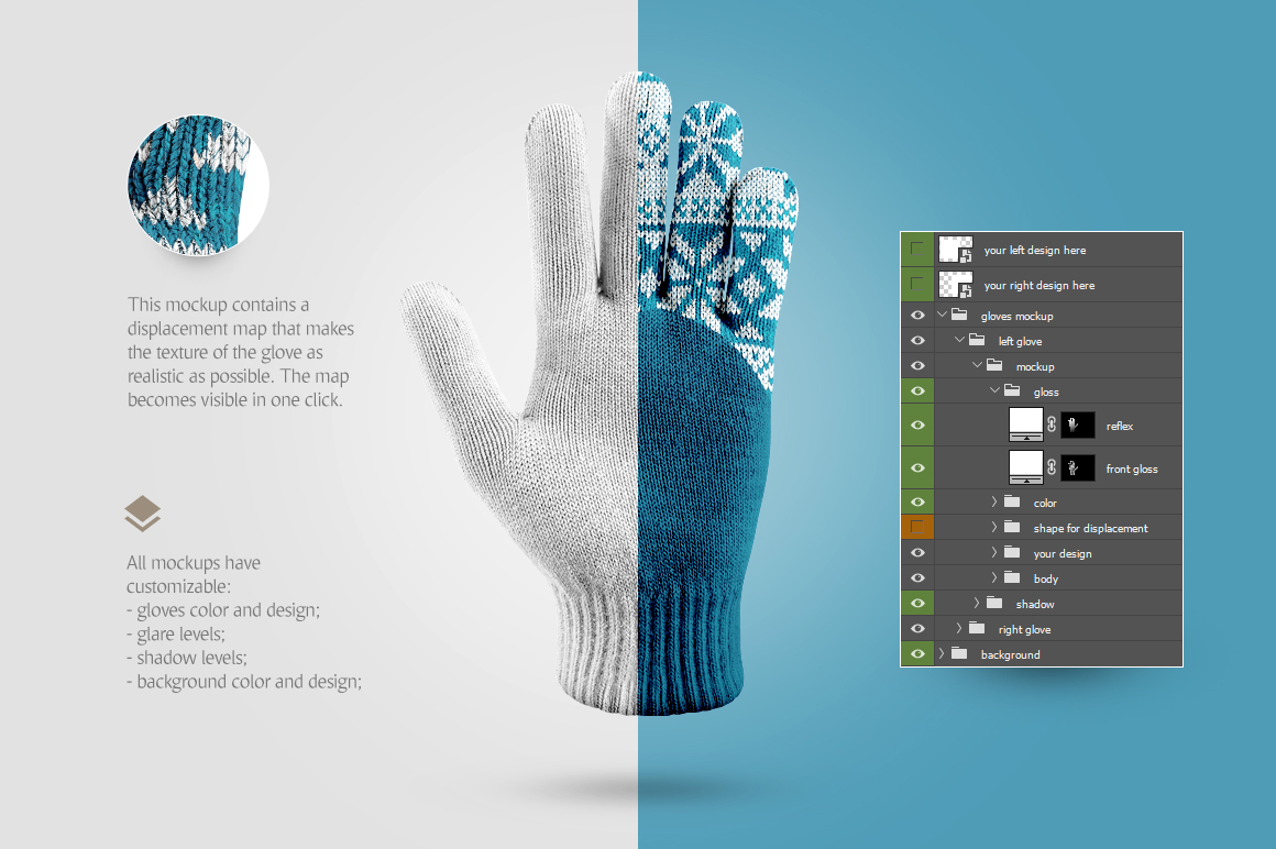 Winter Gloves Mockup example image 5