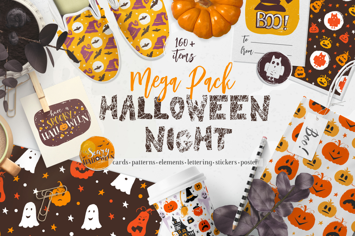 Halloween night Mega Pack! example image 1