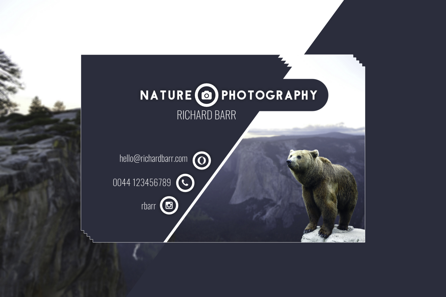 Nature Photography Business Card Set example image 3