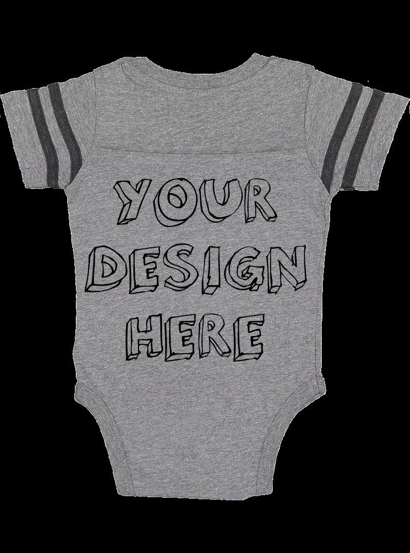 Infant Football Bodysuit Mockups - 12 |PNG|Front/Back - V1 example image 5