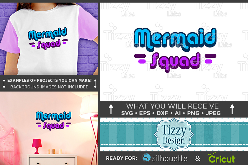 Mermaid Squad SVG File - Mermaid SVG File - 1063 example image 1